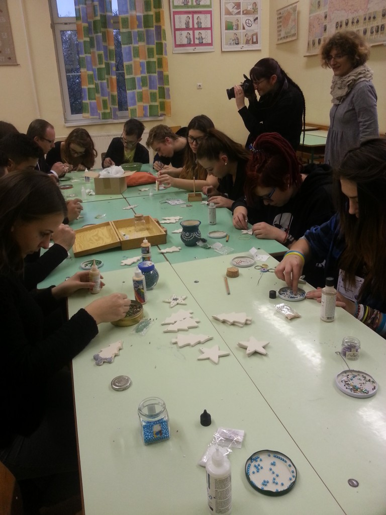 12Students at workshop with a local artist