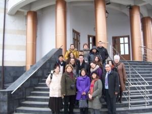 143 Visiting Mioveni church