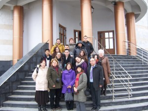 144 Visiting Mioveni church