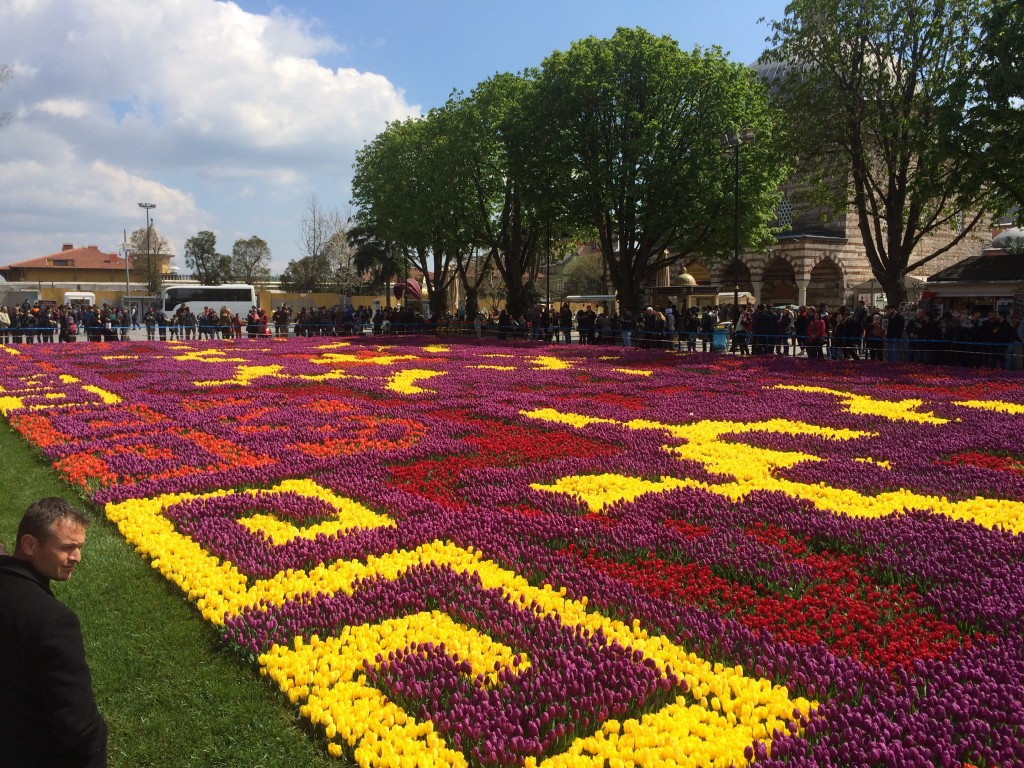 116 World's largest 'tulip carpet' in Istanbul