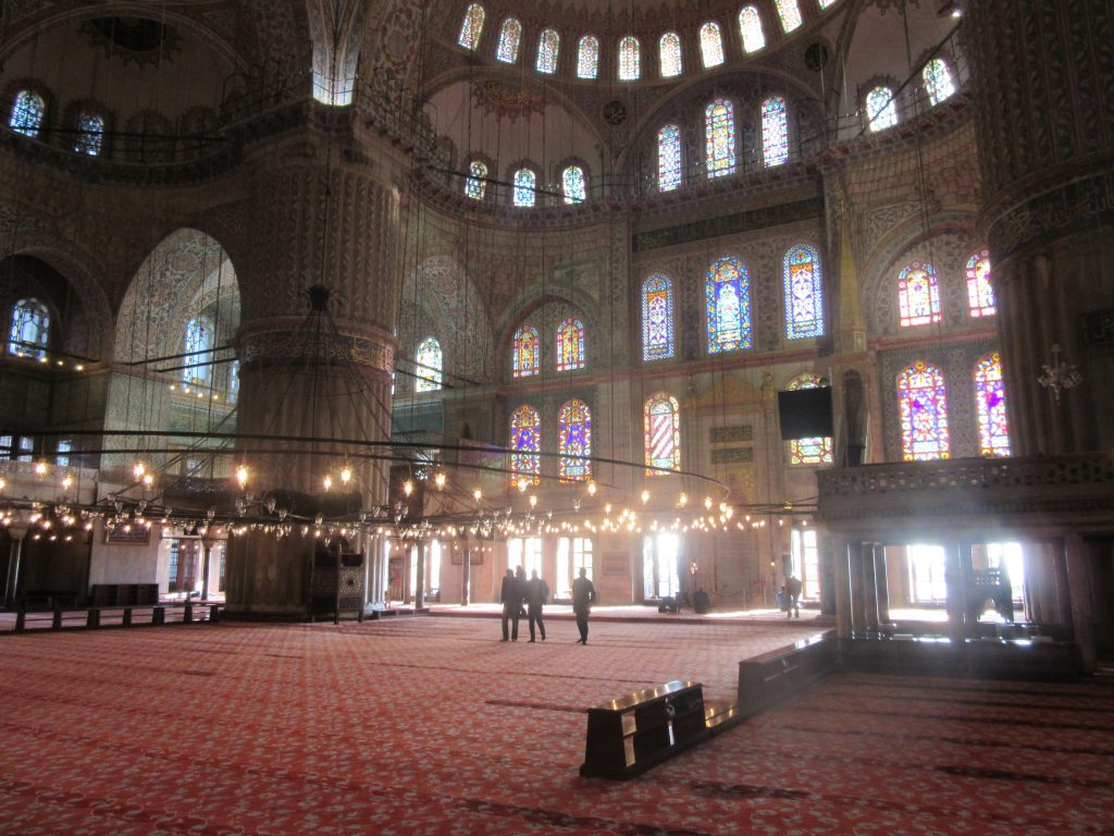 10. Inside the Sultan Ahmed Mosque