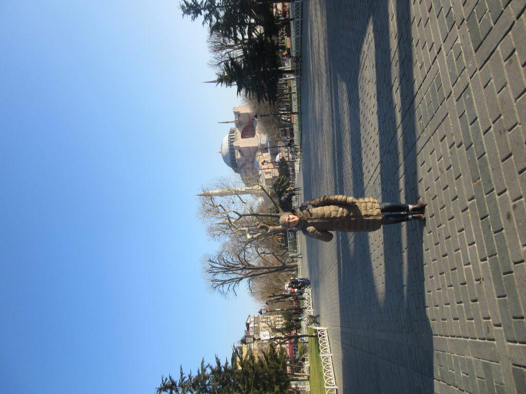 7. The coordinator of Rēzekne Polish State Gymnasium Olga Burova at Hagia Sophia