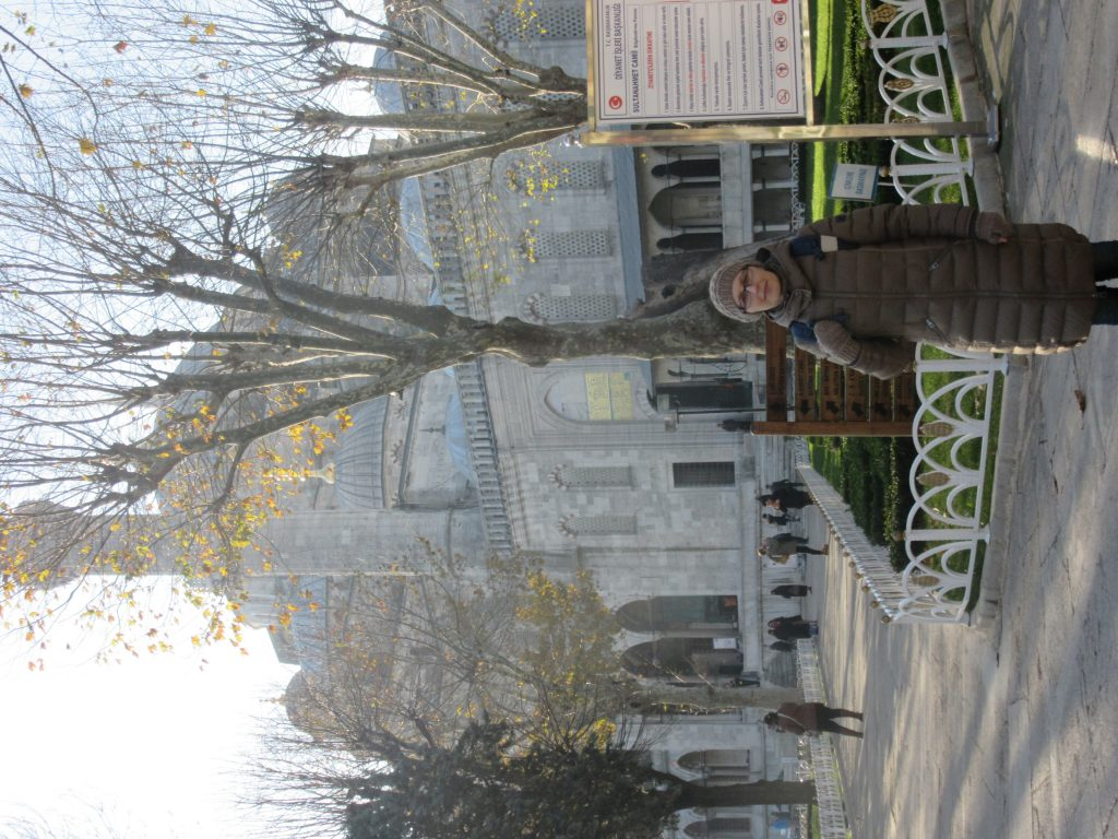 8. At the Sultan Ahmed Mosque