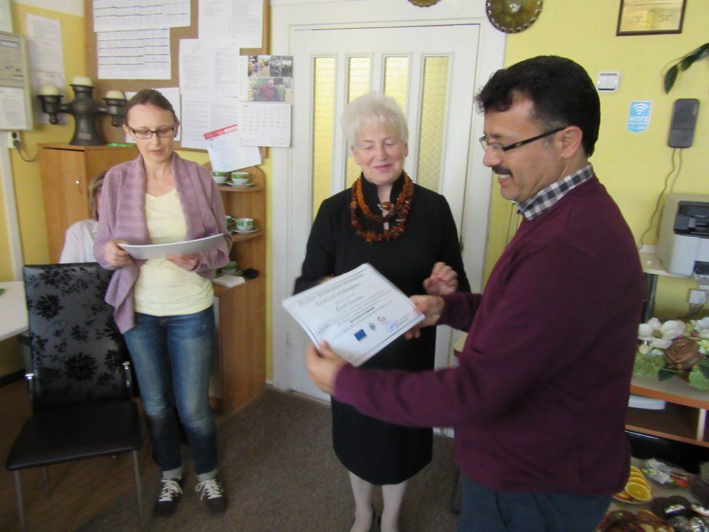 55. Presenting certificates