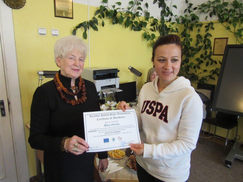56. Presenting certificates