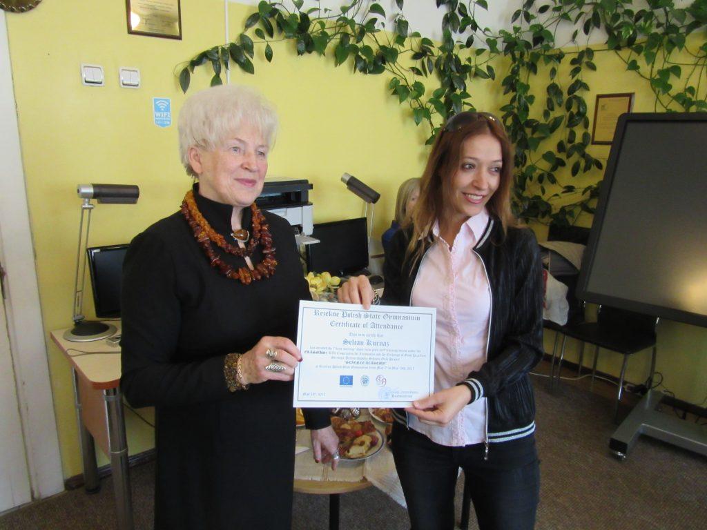 58. Presenting certificates