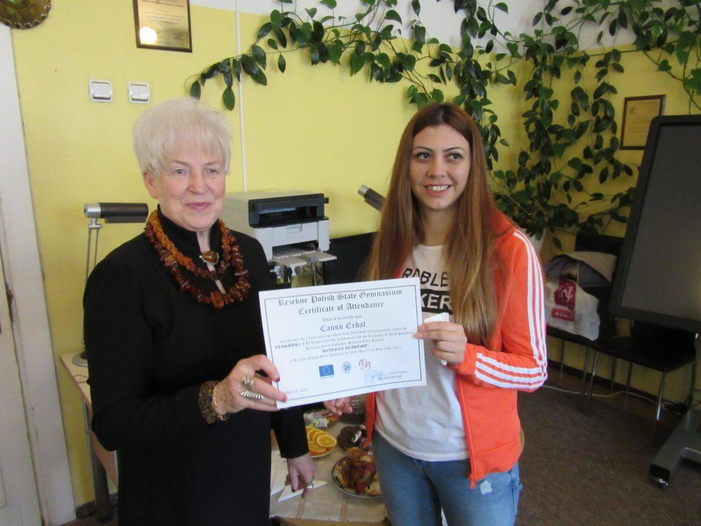 59. Presenting certificates