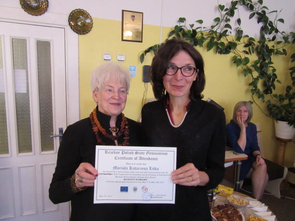 62. Presenting certificates