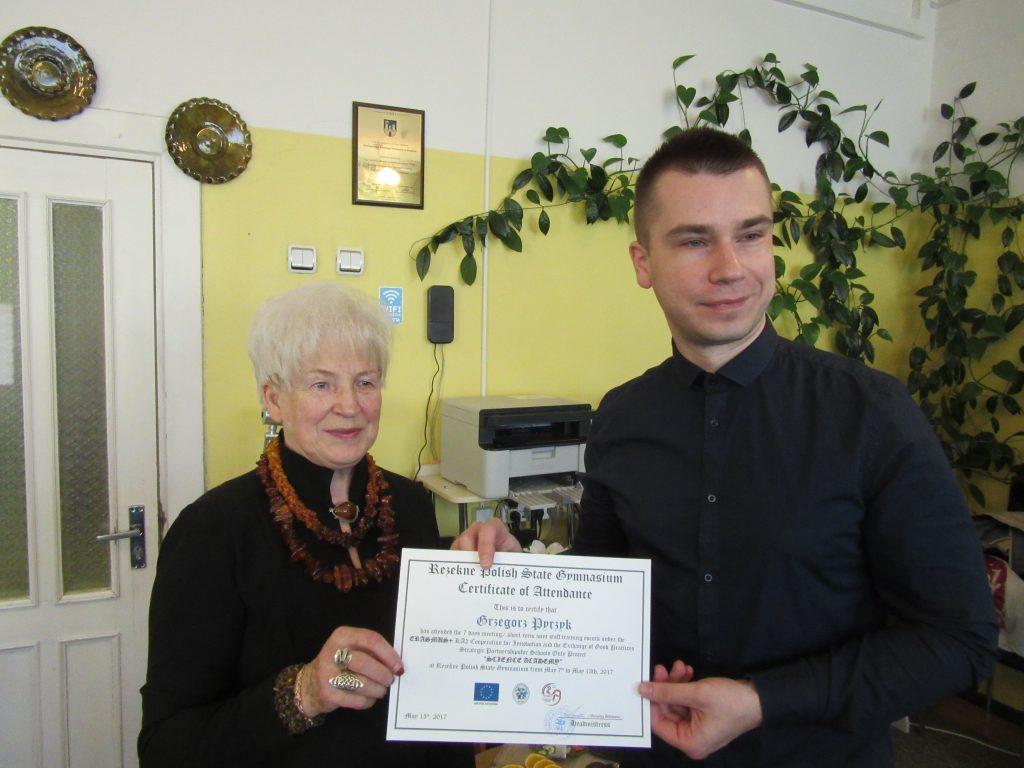 63. Presenting certificates
