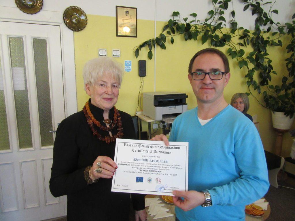 65. Presenting certificates