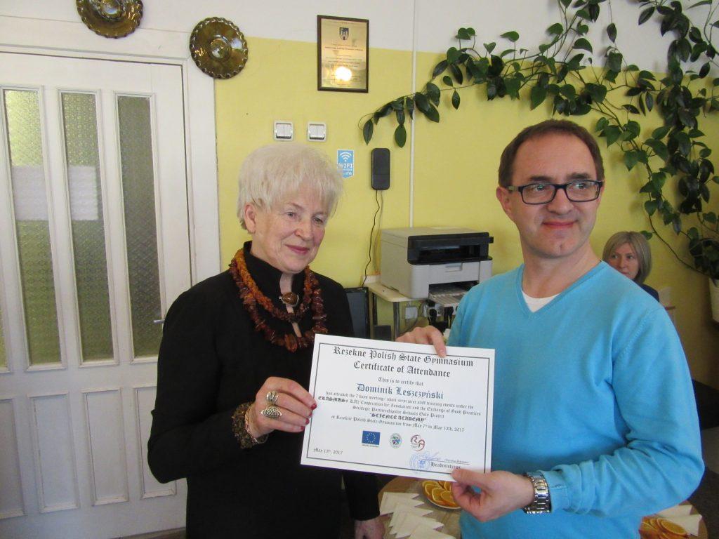 66. Presenting certificates