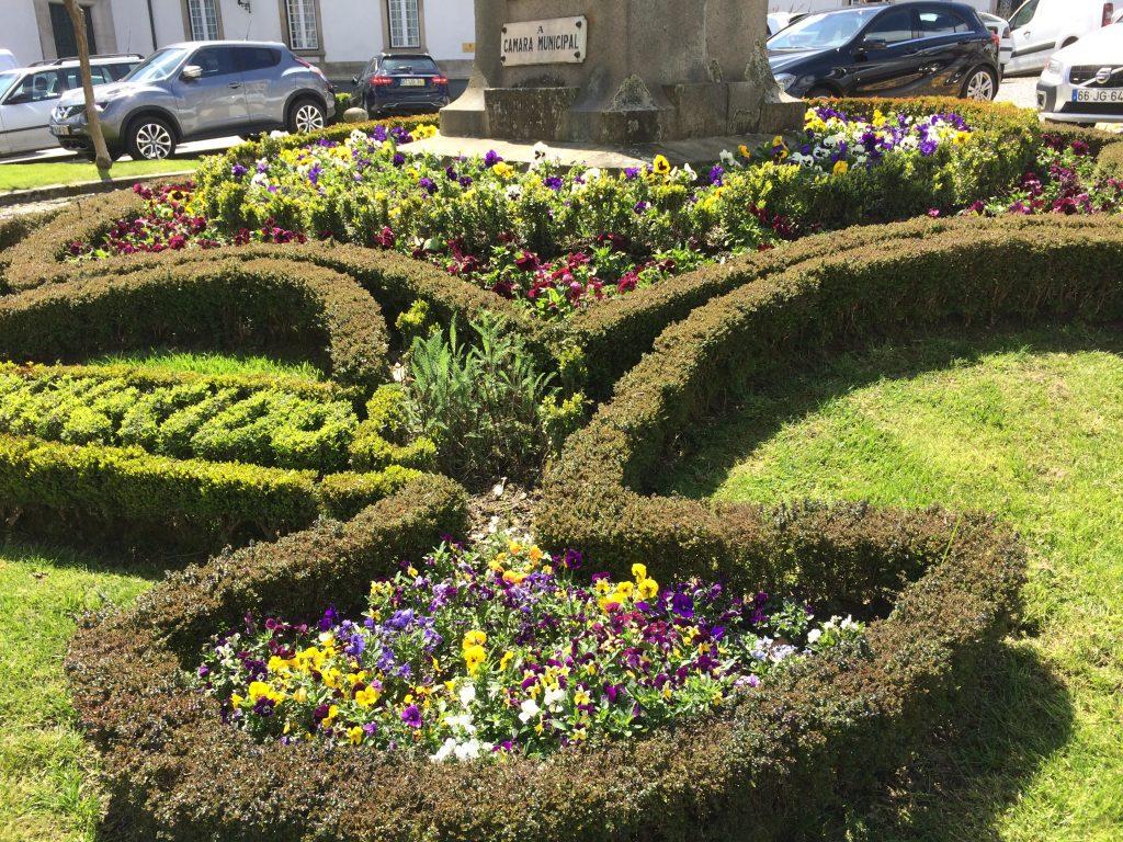 43. Flower beds